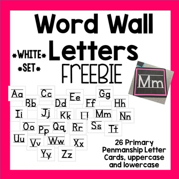 Word Wall Letter Cards *White Set*