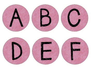 Word Wall Letter Circles