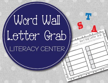 Word Wall Letter Grab (Literacy Center)