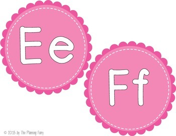 Word Wall Letter Headers: Pink