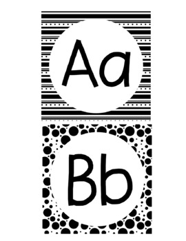 Word Wall Letter Headers-Black and White