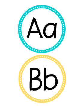 Word Wall Letter Headers-Brights