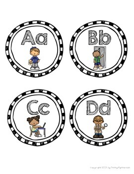 Word Wall Letter Headers! ~Cute Kiddos Theme~
