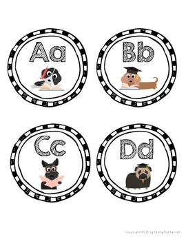 Word Wall Letter Headers! ~Cute Puppies Theme~