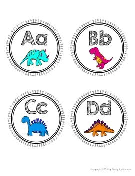 Word Wall Letter Headers! ~Dinosaurs Theme~