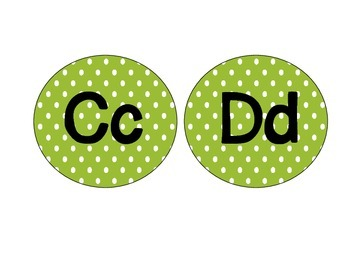 Word Wall Letter Headers: Green