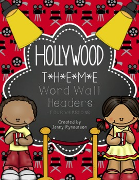 Word Wall Letter Headers! ~Hollywood / Movie Theme~