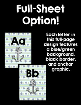 Word Wall Letter Headers! ~Nautical Theme~