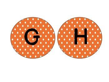 Word Wall Letter Headers: Orange