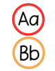 Word Wall Letter Headers-Primary Colors
