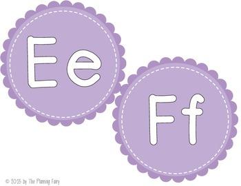 Word Wall Letter Headers: Purple