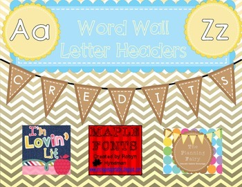 Word Wall Letter Headers: Yellow