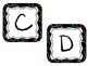 Word Wall Letter Labels - Black with Colored circles(for e