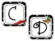 Word Wall Letter Labels - Black/White with Animals for eac
