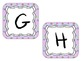 Word Wall Letter Labels - Purple with Dots (for each letter)