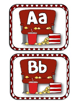 Word Wall Letter- Movie/ Theater Theme