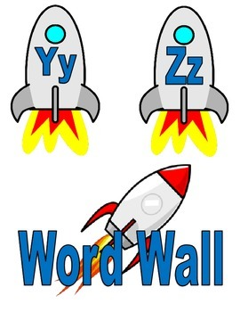 Word Wall Letter Rockets