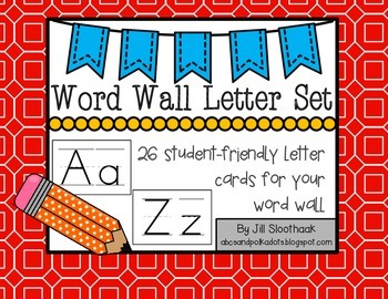 Word Wall Letter Set