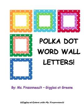 Word Wall Letters {Freebie}