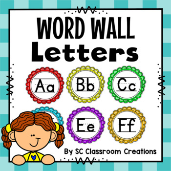 Word Wall Letters (with and without handwriting lines)