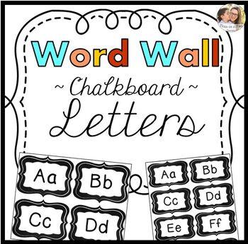 Word Wall Letters Chalkboard Theme