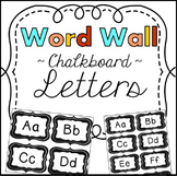 Word Wall Letters Chalkboard Theme Classroom Decor