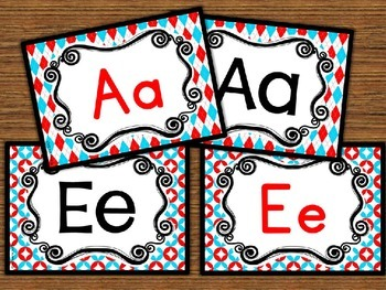 Word Wall Letters Dr Seuss Themed