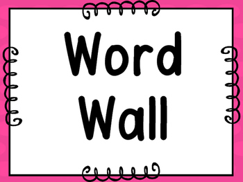 Word Wall Letters & 200 Fry Words -Pink With Pink Polka Dots