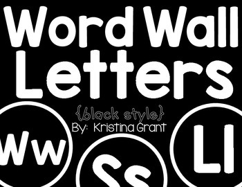 FREE Word Wall Letters {black style}
