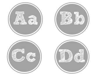 Gray Word Wall Letters