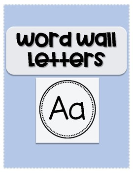 Word Wall Letters - A-Z {FREEBIE}