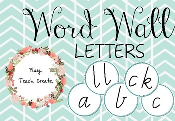 Word Wall Letters (Vic Modern)