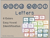 Word Wall Square Letters - 6 Different Colors!