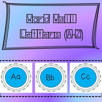 Word Wall Letters (A-Z)