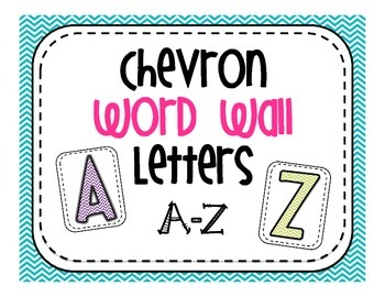 Word Wall Letters A-Z