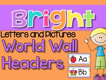 Word Wall Letters AND Pictures {Bright Chevron}