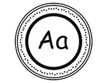 Word Wall Letters {Aa-Zz} in Black and White