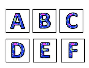 Word Wall Letters - Alphabet