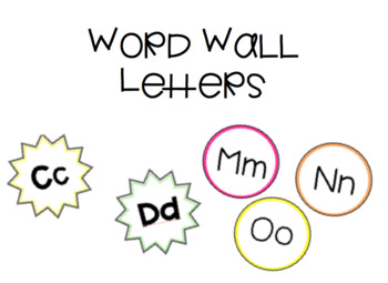 Word Wall Letters / Alphabet