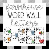 Word Wall Letters {Alphabet Cards•Farmhouse Theme Decor}
