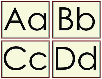 Word Wall Letters - Americana