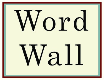 Word Wall Letters - Americana Serif