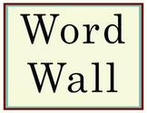 Word Wall Letters - Americana Serif