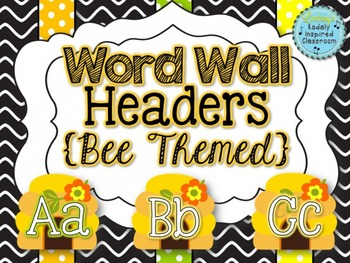 Word Wall Letters {Bee Themed}
