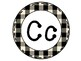 Word Wall Letters Black & White Buffalo Check