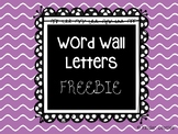 Word Wall Letters: Black & White Polka Dots