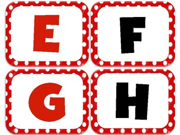 Word Wall Letters - Black and Red Polka Dot (Mickey)