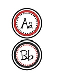 Word Wall Letters- Black and Red