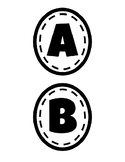 Word Wall Letters (Black and White)