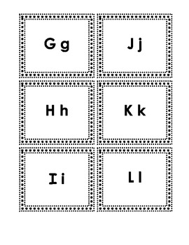 Word Wall Letters - Black and White Polka Dot